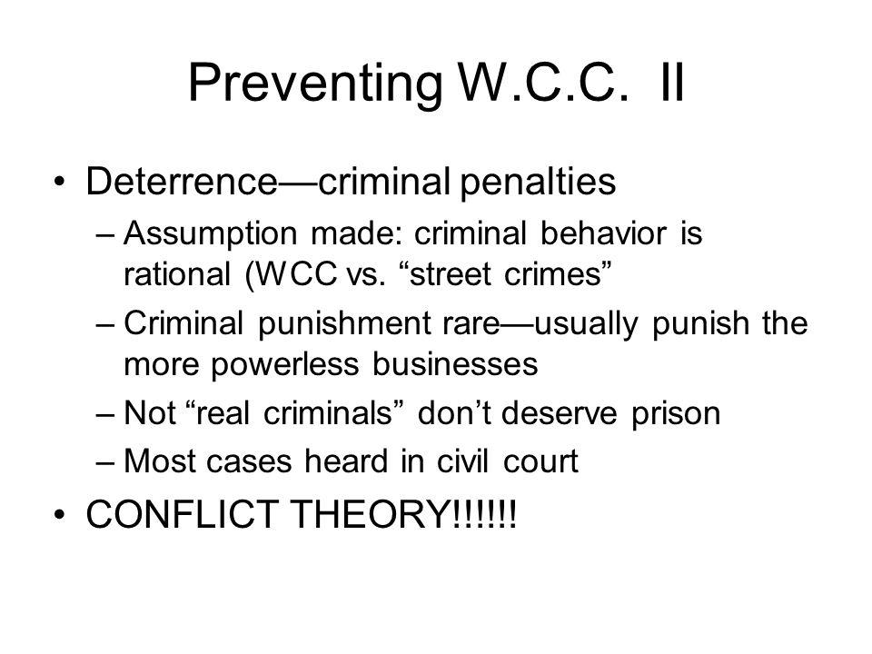 Preventing W.C.C.