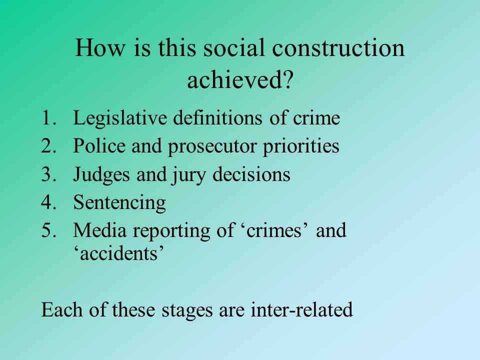 "Jeffrey Reiman ""The Rich Get Richer: The Poor get Prison"" The Social Construction of Crime –The construction of 'crime' focuses attention onto the soc"