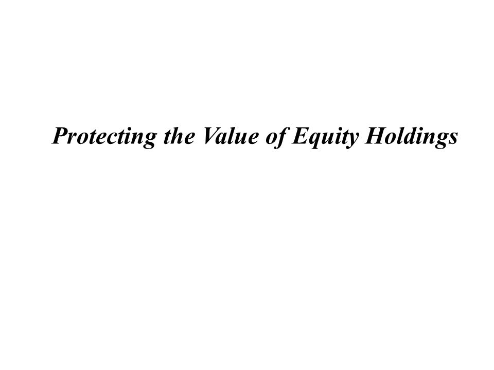 2 Equity Derivatives Situation: Joe Investor ( Investor ) owns a significant number of shares in ABC Corp ( ABC ), and may face these challenges: 1) How to protect against a decline in the price of ABC; 2) How to monetize ABC in the most tax efficient manner.