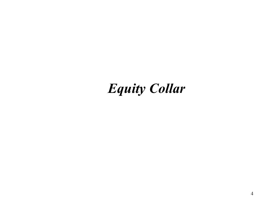 5 Equity Derivatives Solution: Equity Collar Hedge: An Equity Collar is a hedging technique that protects the Investor against a price decline by a specific maturity date.