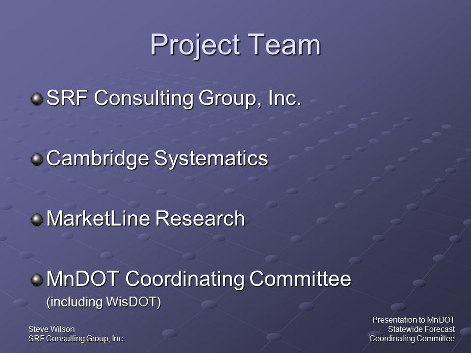 Steve Wilson SRF Consulting Group, Inc.