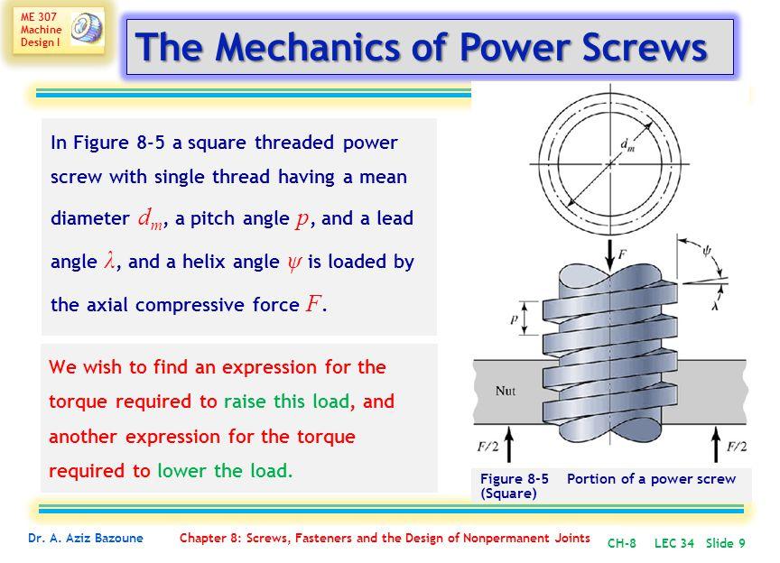 ME 307 Machine Design I ME 307 Machine Design I Dr.