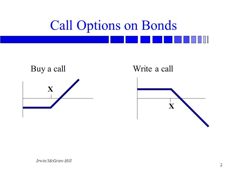 Irwin/McGraw-Hill 3 Put Options on Bonds Buy a PutWrite a Put X X