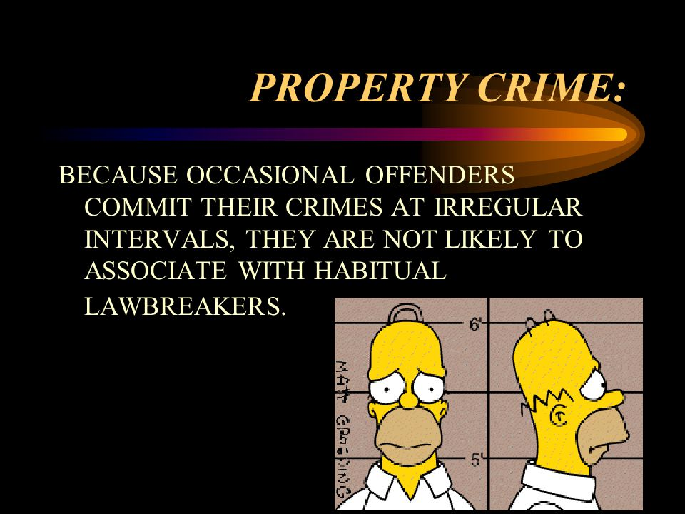 BECAUSE OCCASIONAL OFFENDERS COMMIT THEIR CRIMES AT IRREGULAR INTERVALS, THEY ARE NOT LIKELY TO ASSOCIATE WITH HABITUAL LAWBREAKERS.