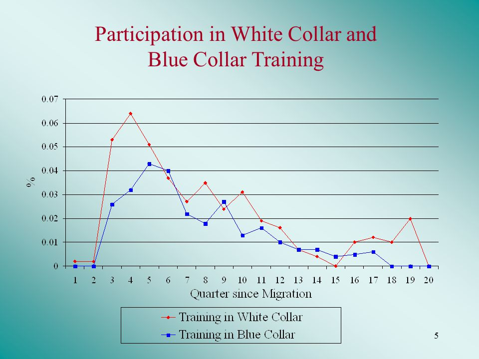 5 Participation in White Collar and Blue Collar Training