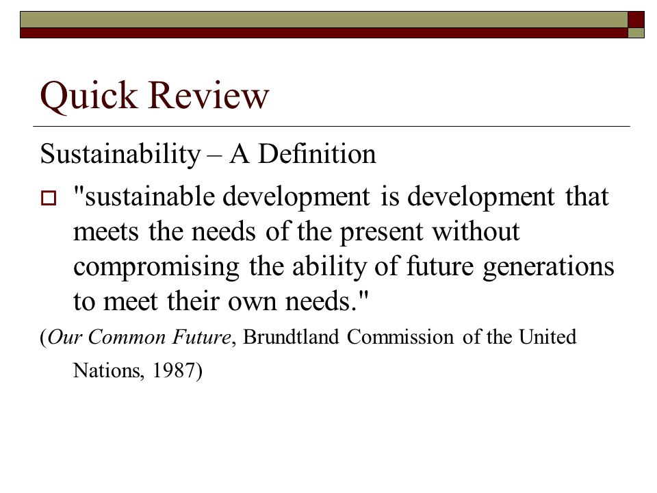 Three Dimensions of Sustainability
