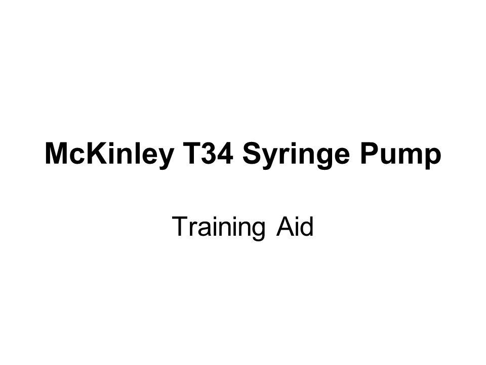 T34- 3 Point Contact Recognition and Syringe Loading 1.Barrel clamp arm- (detects syringe size/width of barrel, secures) 2.Syringe ear/collar sensor (detects secure loading of syringe collar) 3.Plunger sensor (detects secure loading of syringe plunger) 1 2 3