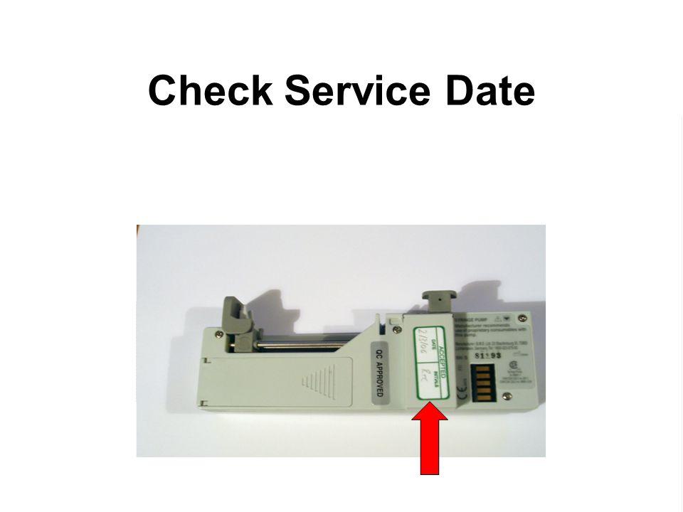 Check Service Date