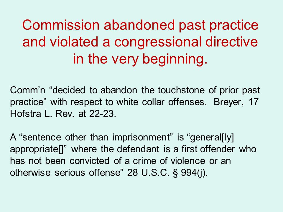 Commission abandoned past practice and violated a congressional directive in the very beginning.