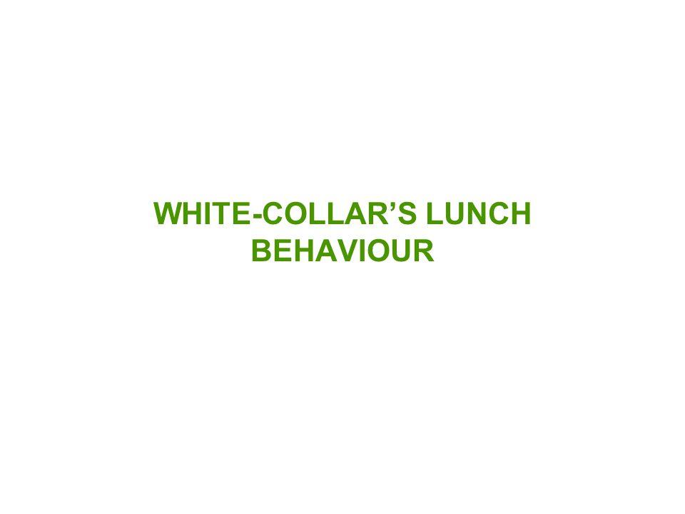 WHITE-COLLAR'S LUNCH BEHAVIOUR