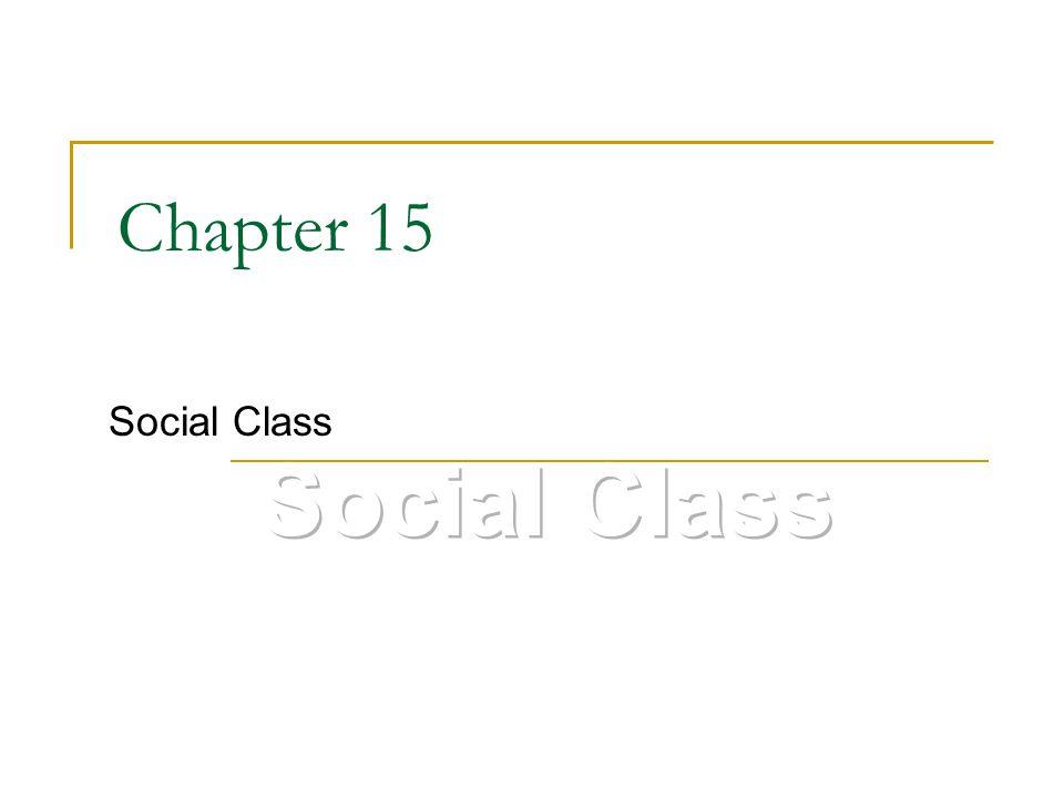 Chapter 15 Social Class
