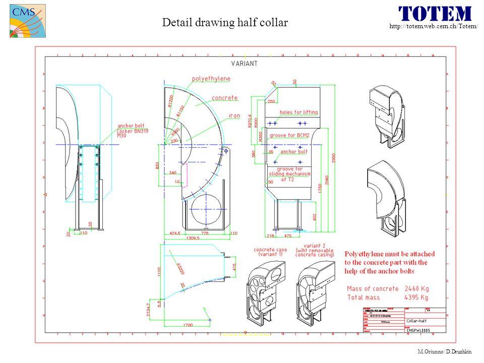 http://totem.web.cern.ch/Totem/ M.Oriunno/ D.Druzhkin Detail drawing half collar