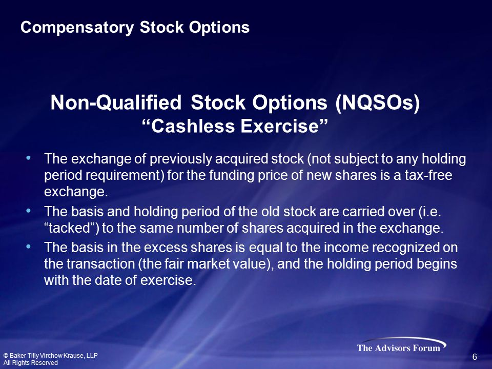 The exchange of previously acquired stock (not subject to any holding period requirement) for the funding price of new shares is a tax-free exchange.