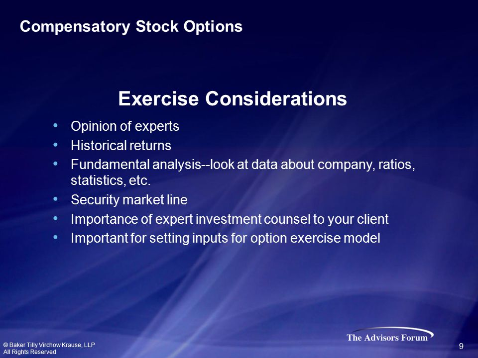 Opinion of experts Historical returns Fundamental analysis--look at data about company, ratios, statistics, etc.