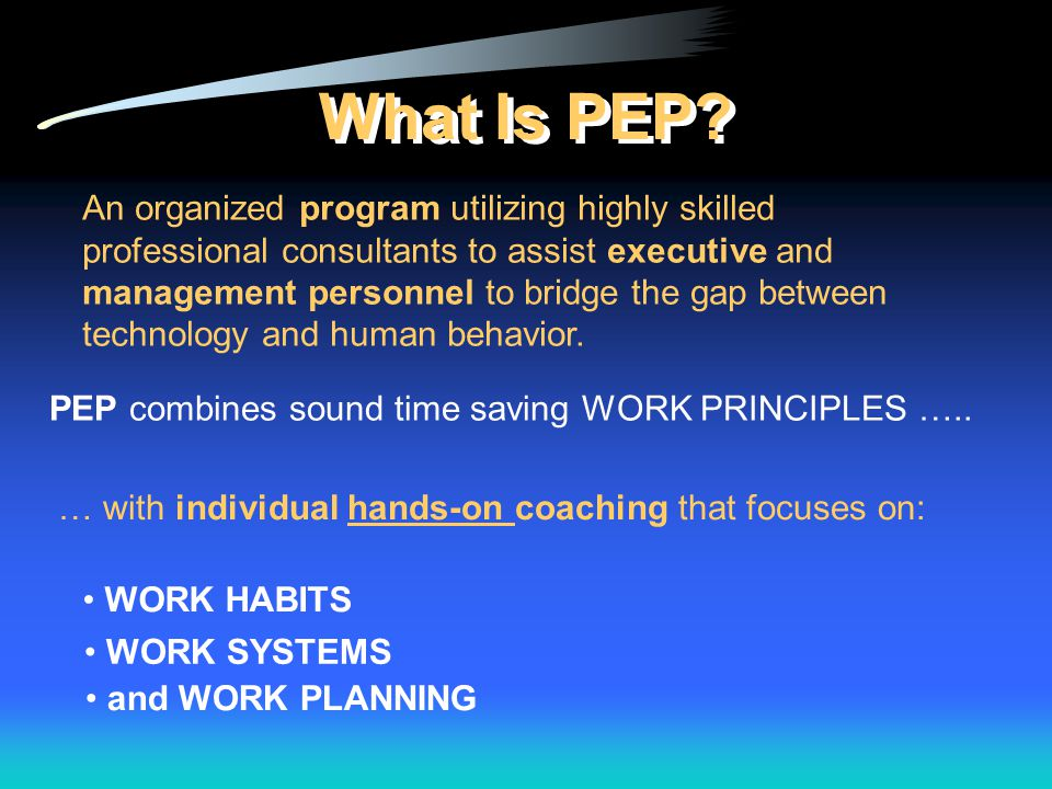 What Is PEP.