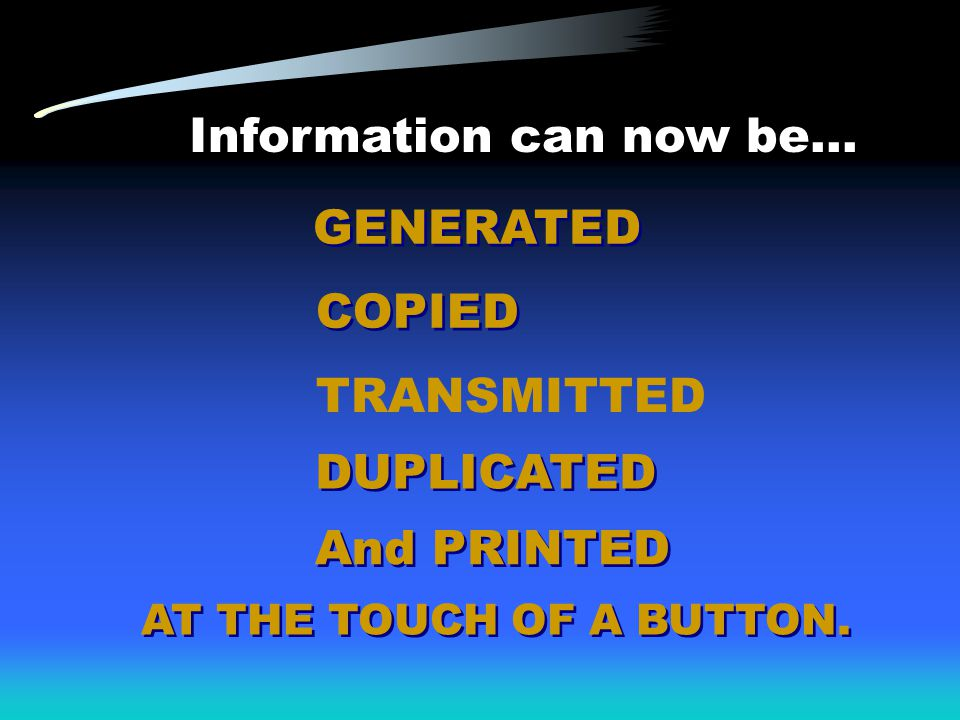 Information can now be...