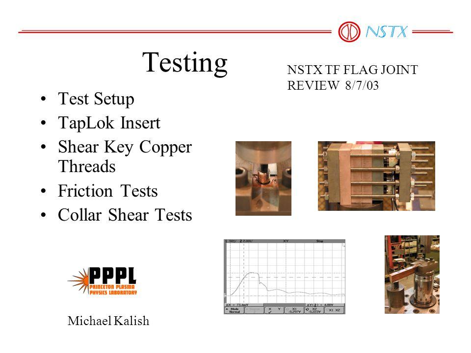 Un-Cycled SampleBreak Force TLC-114500 TLC-212500 TLC-312500 TLC-411500 TLC-512500 Average =12700 TapLok Static Pull Test Results