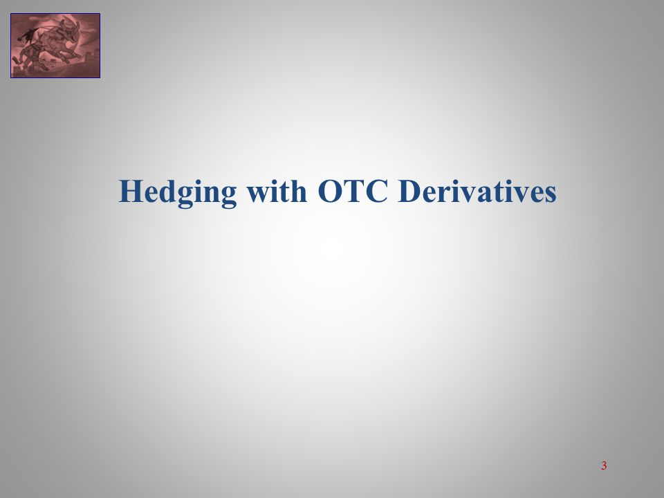 3 Hedging with OTC Derivatives