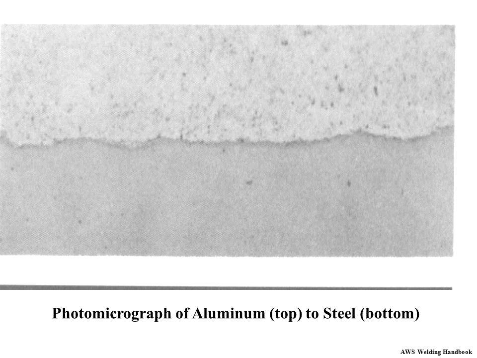 Photomicrograph of Aluminum (top) to Steel (bottom) AWS Welding Handbook