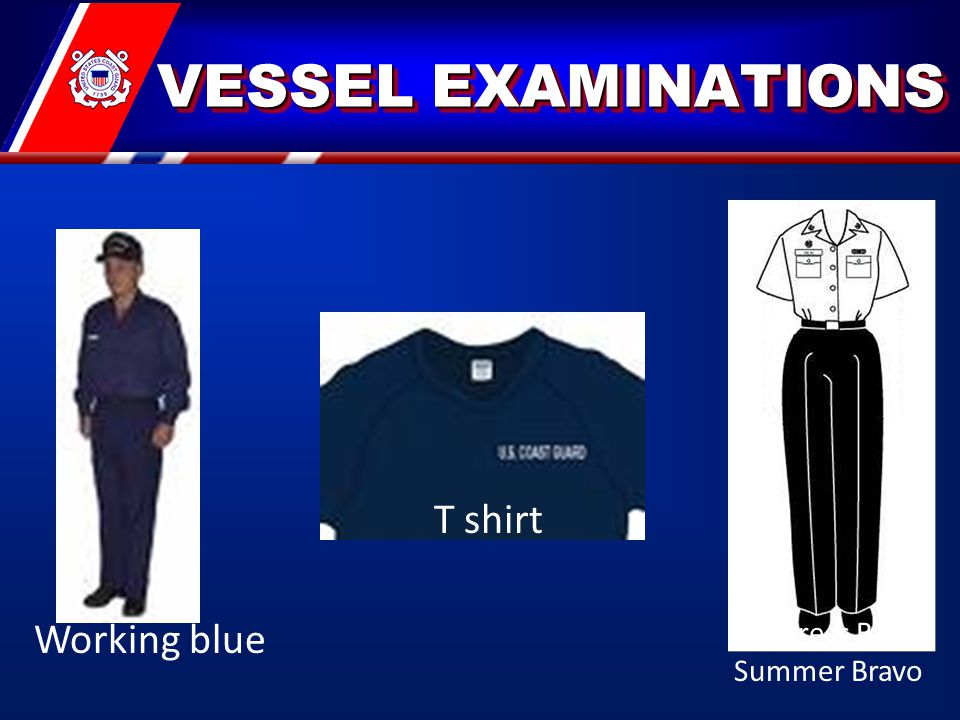VESSEL EXAMINATIONS VESSEL EXAMINATIONS Working blue T shirt Undress Blue Summer Bravo