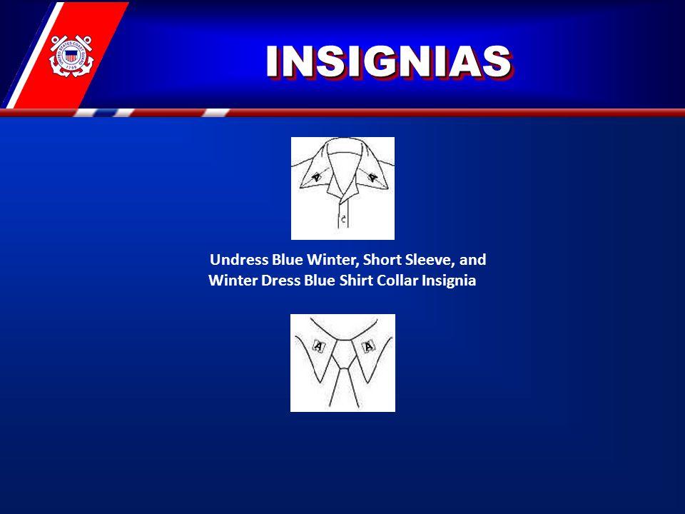 INSIGNIASINSIGNIAS Undress Blue Winter, Short Sleeve, and Winter Dress Blue Shirt Collar Insignia