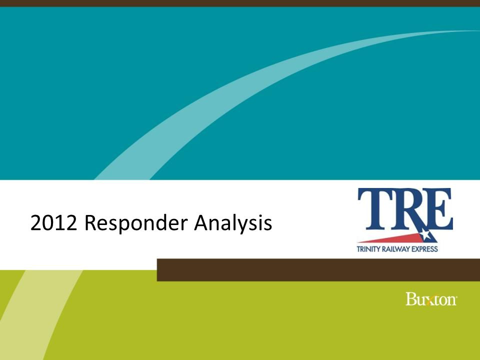 Drive-Time Trade Area Drive-Time Trade Area: 19 minutes On average, 75% of The TRE's responders live within a 19-minute drive of the stop they frequent.