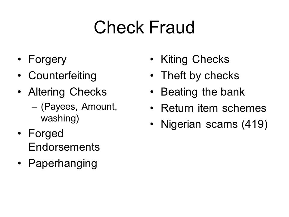 Check Fraud – Nigerian Scams What is Nigerian Scams.