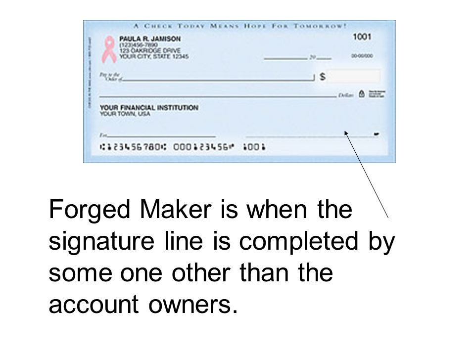Check Fraud - Counterfeiting What is a counterfeit check.
