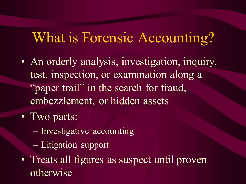 What is Forensic Accounting.