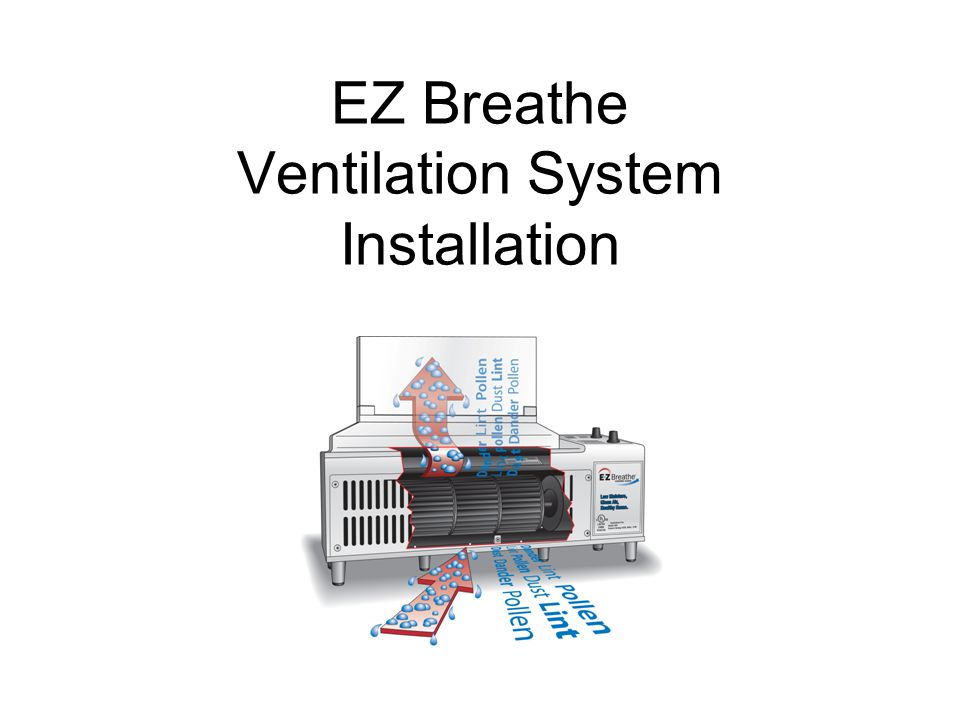 Once the most optimal location for the EZ Breathe unit has been identified, drill a pilot hole from the inside straight through to the outside of the house.