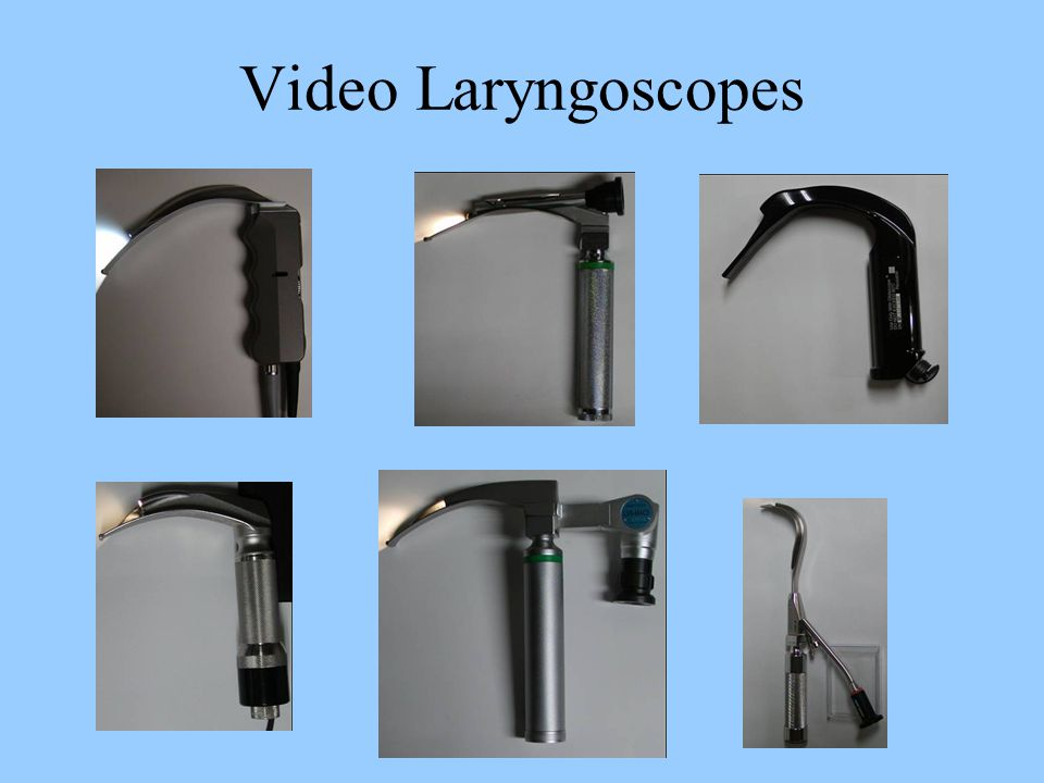 Video Laryngoscopes
