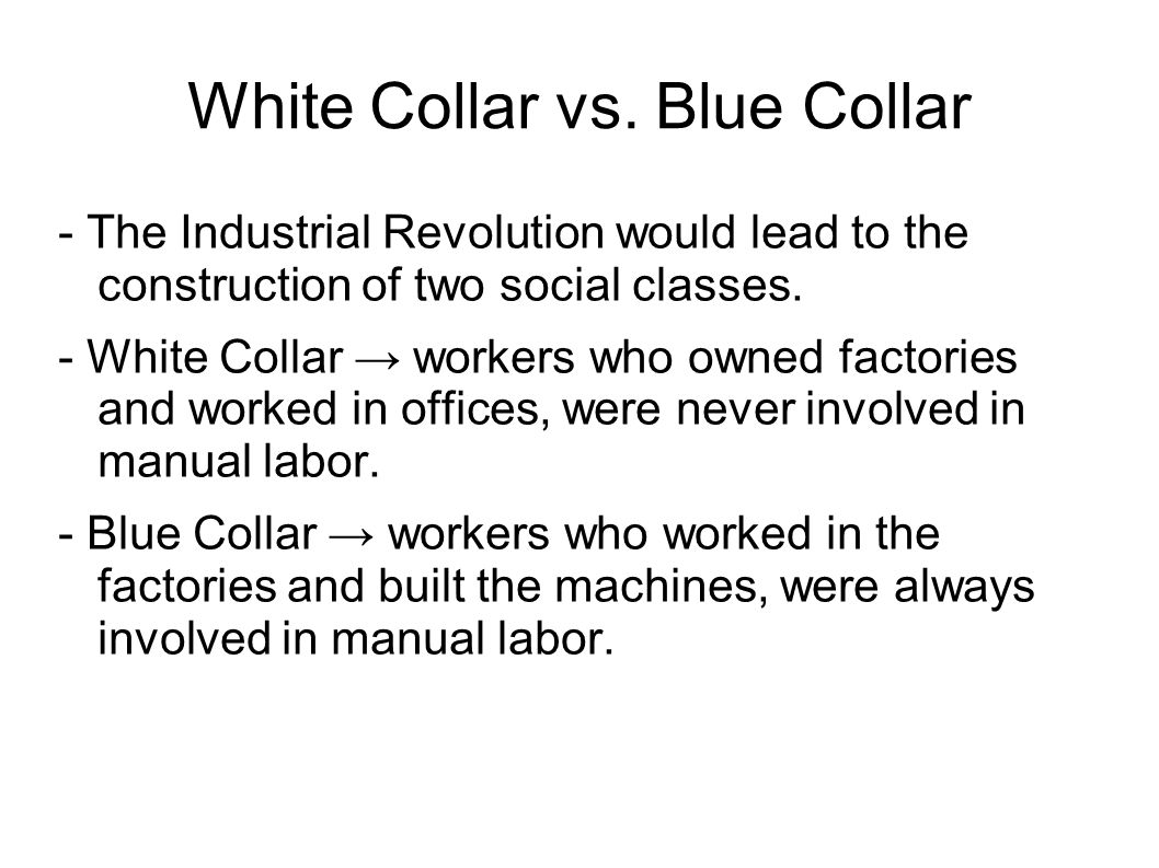 White Collar vs.