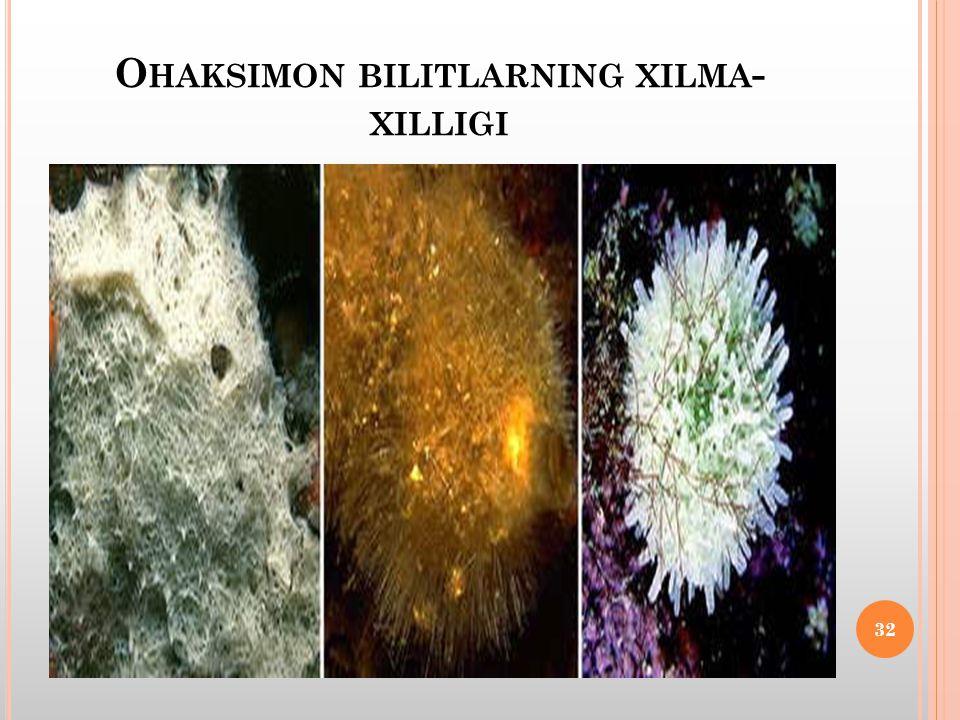 O HAKSIMON BILITLARNING XILMA - XILLIGI 32
