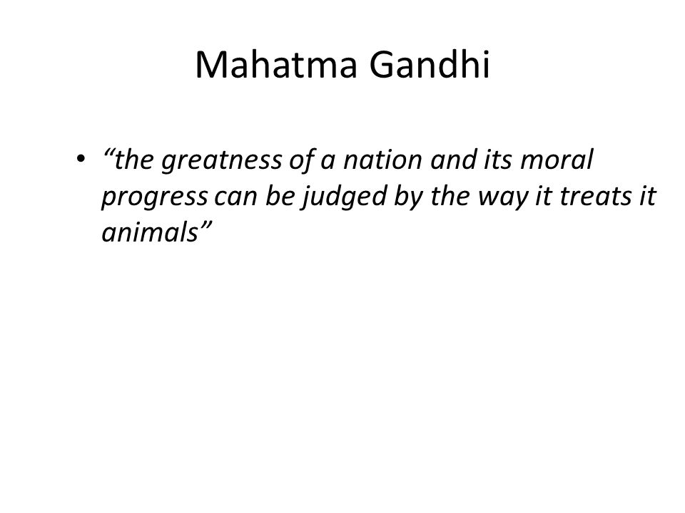 Mahatma Gandhi the greatness of a nation and its moral progress can be judged by the way it treats it animals