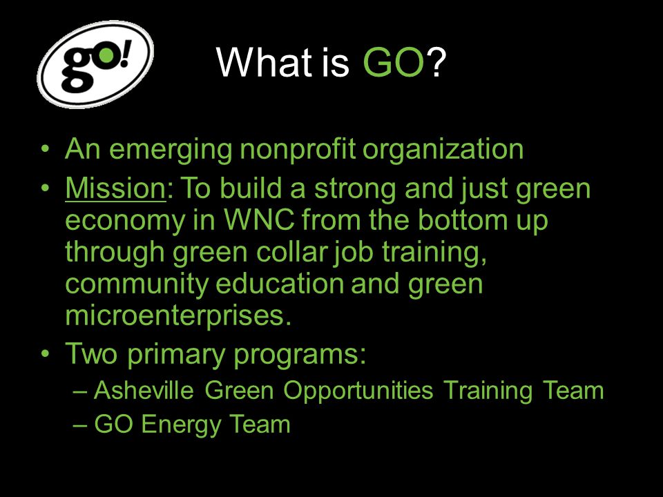 Asheville GO Green collar job training and placement
