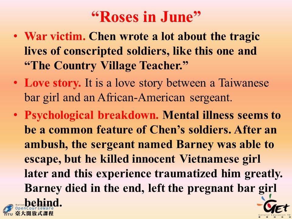 Roses in June War victim.