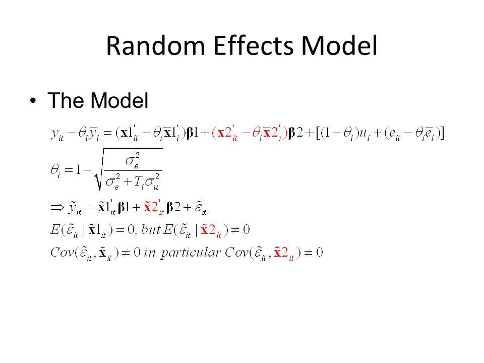 Random Effects Model The Model