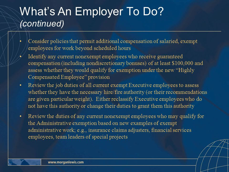 What's An Employer To Do.