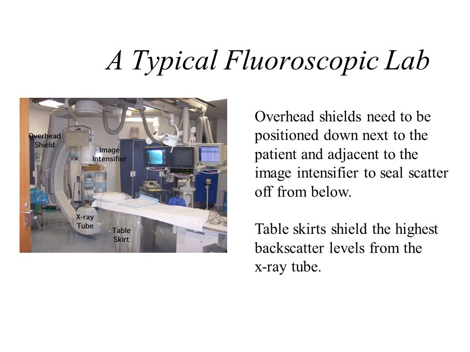 The X-ray Imaging Process Fluoroscopes are routinely operated in automatic exposure mode. As the patient becomes thicker x-ray output goes higher to m