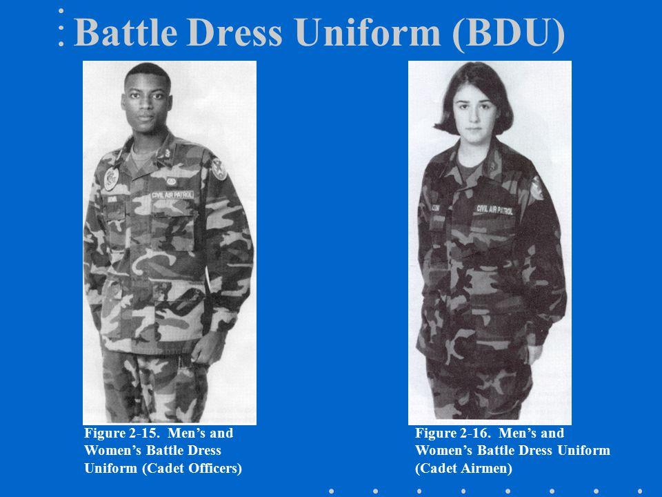 Figure 2-15.Men's and Women's Battle Dress Uniform (Cadet Officers) Figure 2-16.
