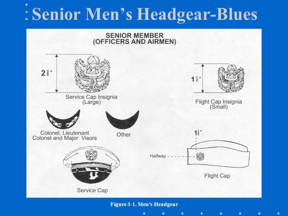 Senior Men's Headgear-Blues Figure 3-1. Men's Headgear