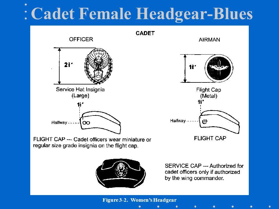 Figure 3-2. Women's Headgear Cadet Female Headgear-Blues