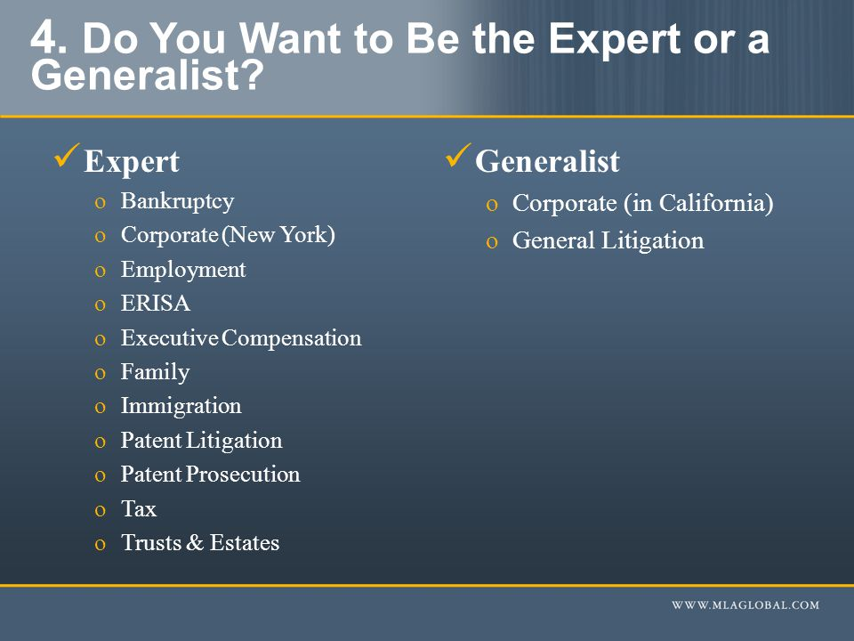 4. Do You Want to Be the Expert or a Generalist.