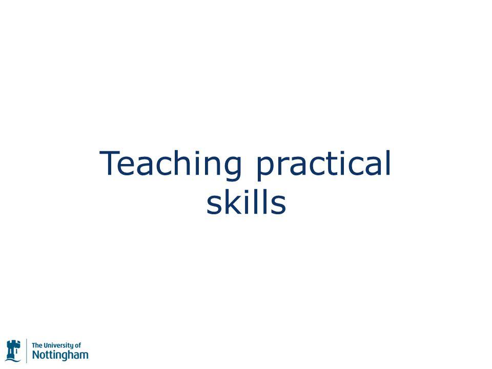 But how do we teach skills?
