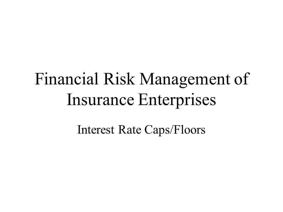 Financial Risk Management of Insurance Enterprises Interest Rate Caps/Floors