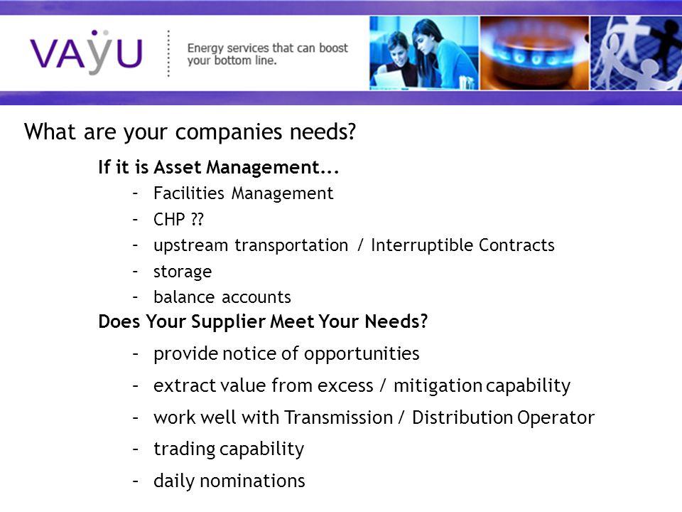 Understanding today's rapidly evolving energy market If it is Asset Management...