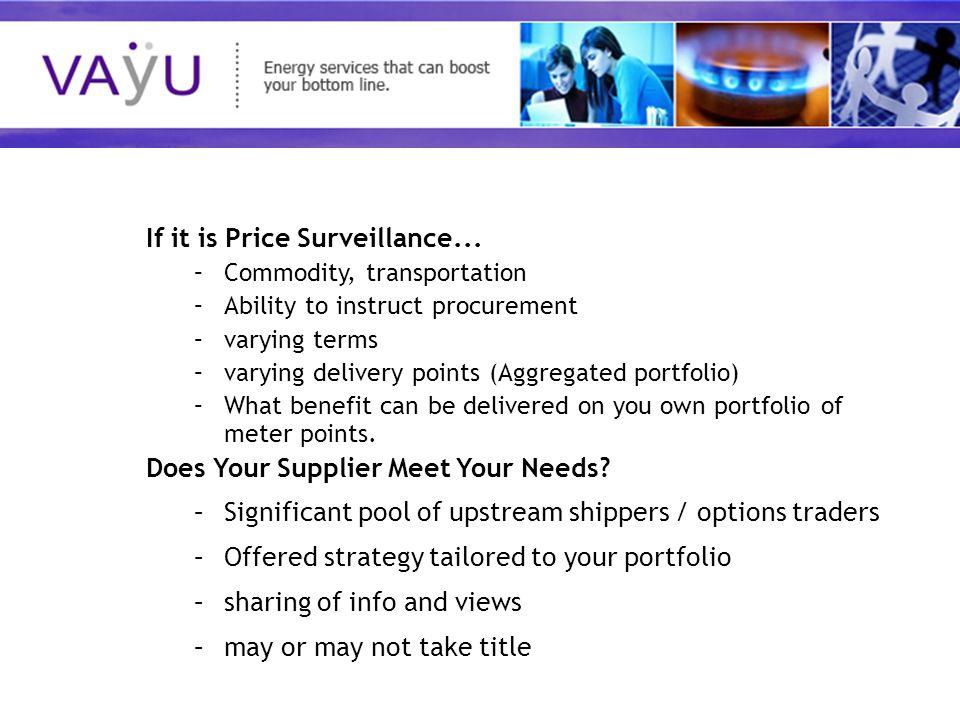 Understanding today's rapidly evolving energy market If it is Price Surveillance...