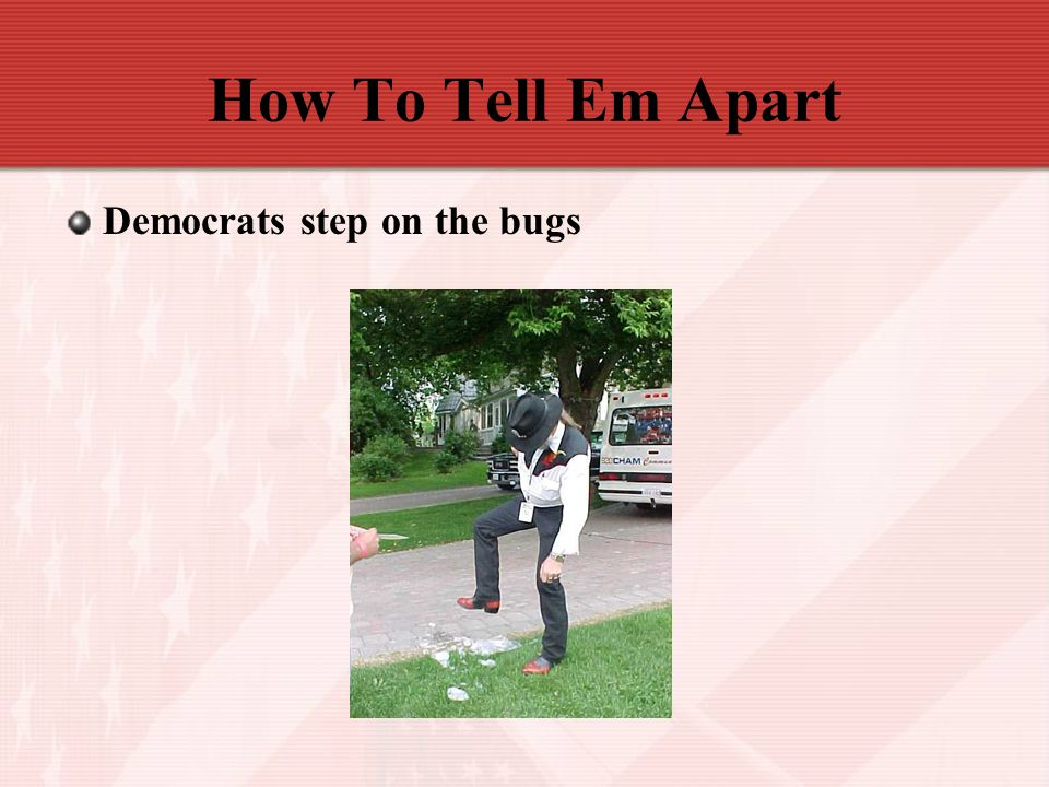 How To Tell Em Apart Democrats step on the bugs