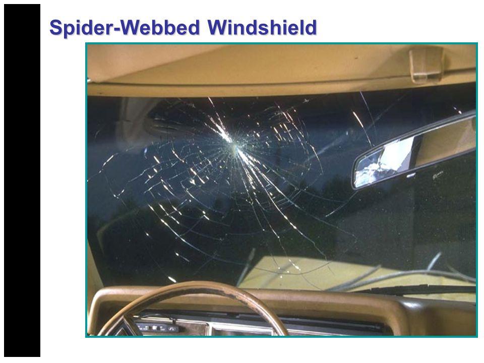Spider-Webbed Windshield