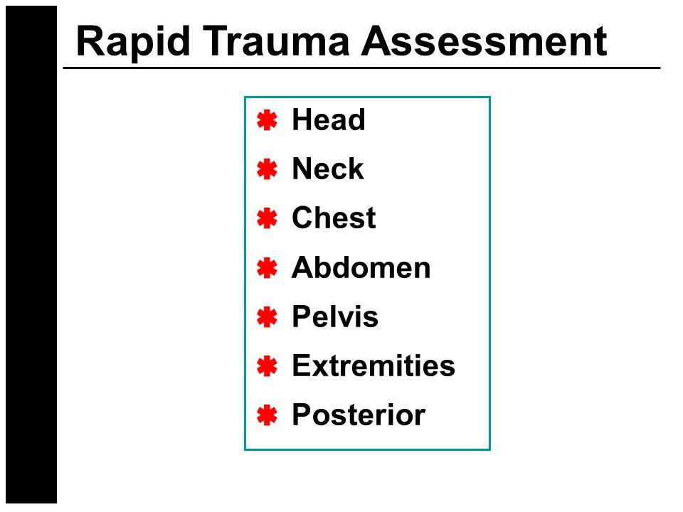 Rapid Trauma Assessment Head Neck Chest Abdomen Pelvis Extremities Posterior